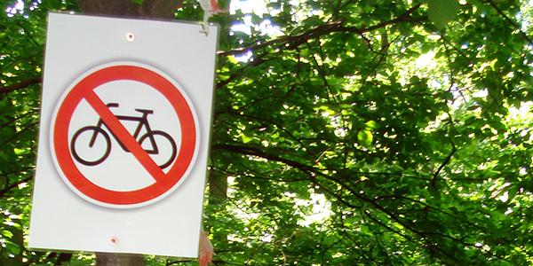 Mountainbikes: Im Wald nicht immer erlaubt